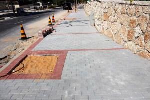 המדרכה החדשה ברחוב הרצוג בבית שמש לאחר השיפוץ