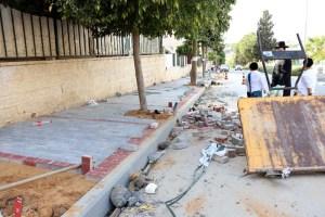 שיפוץ המדרכה ברחוב הרצוג בבית שמש