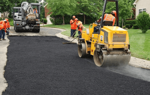Paving the suburban area