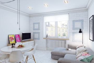 How to equip a studio apartment in the Scandinavian style