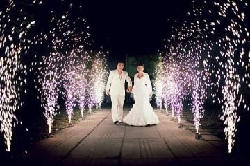 Фейерверки для свадьбы. фота