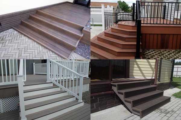 Декинг Безопасная и прочная лестница перед домом