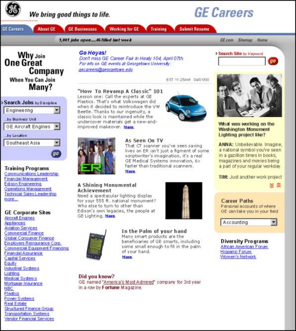 GE Portal Site 1990s