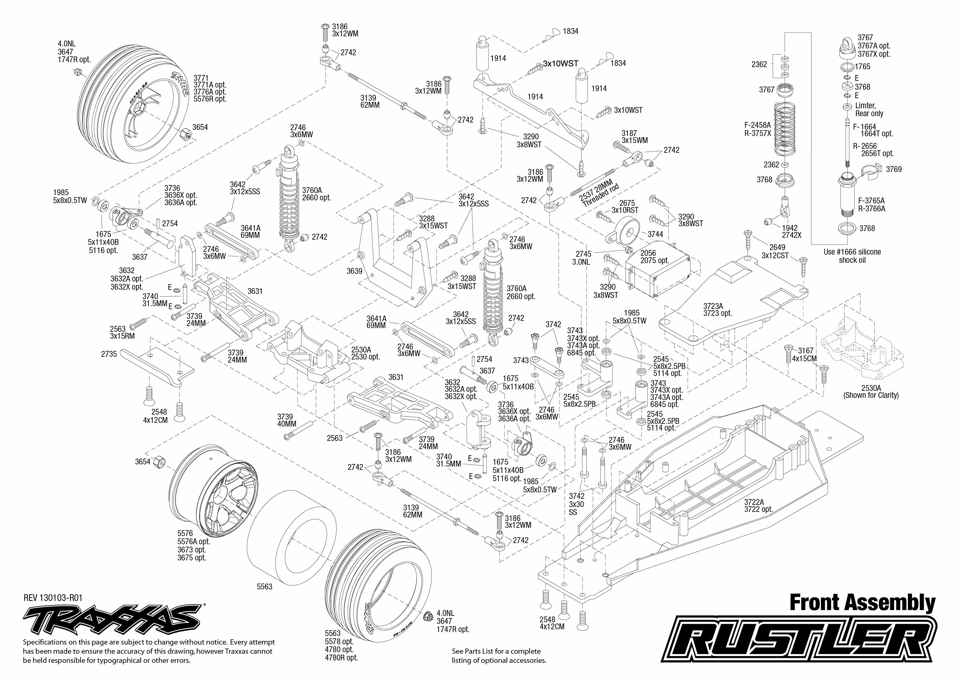 Traxxas 2wd Parts Diagram