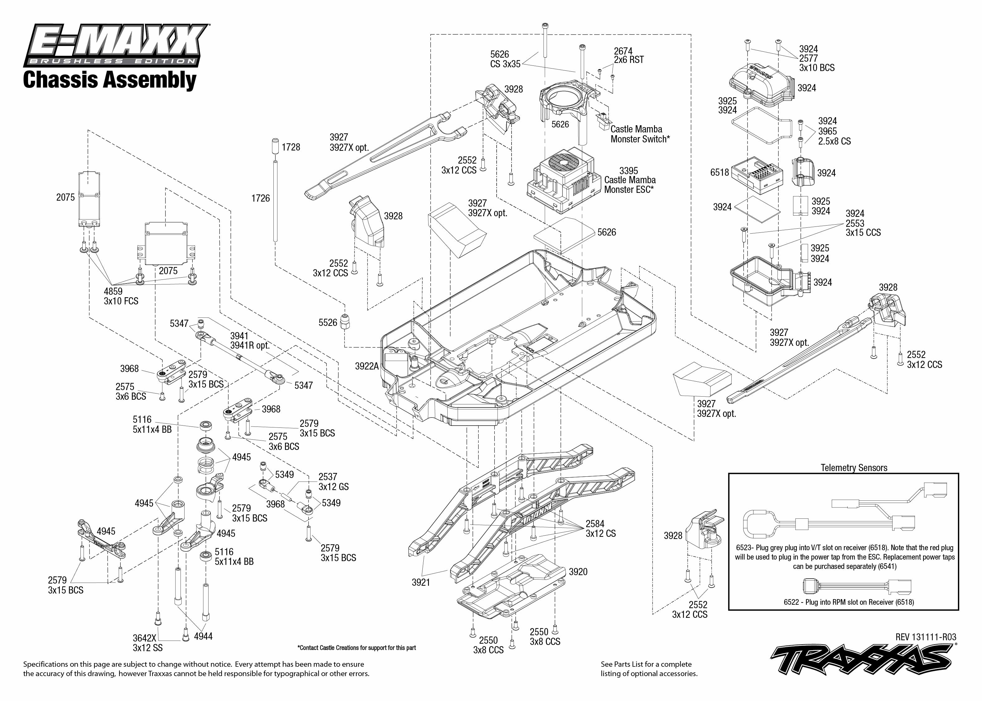 Exploded view's voor Traxxas modellen
