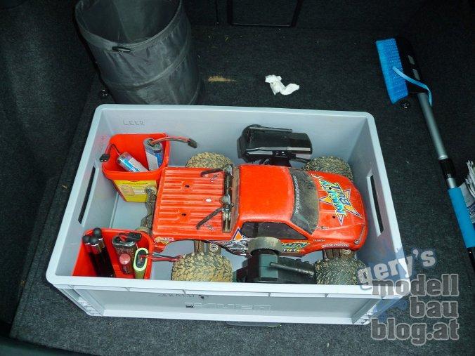 Dank der Transportbox bleibt mein Wagen jetzt sauber!