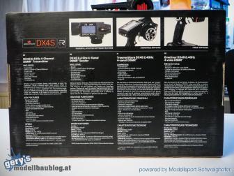 Verpackungsrückseite DX4S