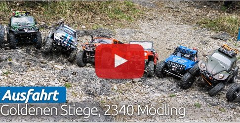RC Trial Mödling - Crawling over rocks and roots 1