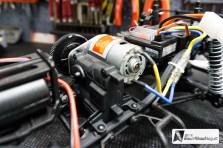 Das Verteilergetriebe und der Motor ist quer zur Fahrtrichtung eingebaut