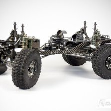 Getriebe, Dämpferbrücken und Elektronikbox aus Aluminium