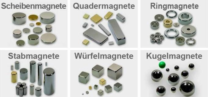 Produktübersicht Neodym Magnete von MagnetMax.de