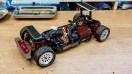 Tamiya TT01 Chassis mit Killerbody Alufelgen und Reifen