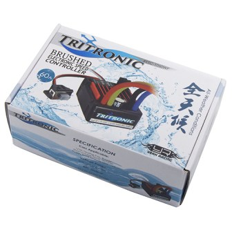 Yeah Racing Tritronic 1/10 Waterproof Brushed 60A ESC #ESC-1060WP