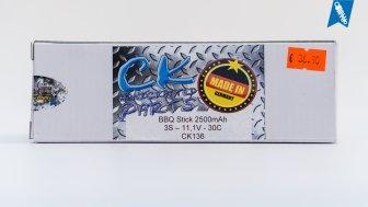 CK BBQ Stick 2500mAh 3S 11,1V 30C