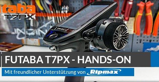 Beitragsbild: FUTABA T7PX 2.4GHz Unboxing und Hands-On