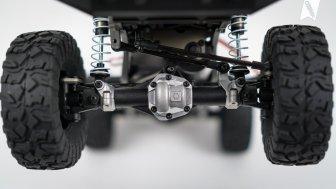 Kunststoffachsen mit Aluminium-Differentialabdeckung