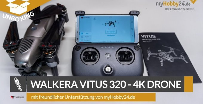 Artikelbild: Walkera VITUS Portable Quadrocopter RTF - FPV-Drohne mit 4K UHD-Kamera, Hinderniserkennung, GPS, Active Track, DEVO F8S-Fernsteuerung