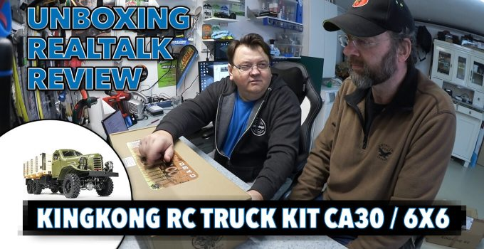 KingKong RC Truck Kit CA30 ZIS/ZIL-151 6x6 1:12 - Unboxing