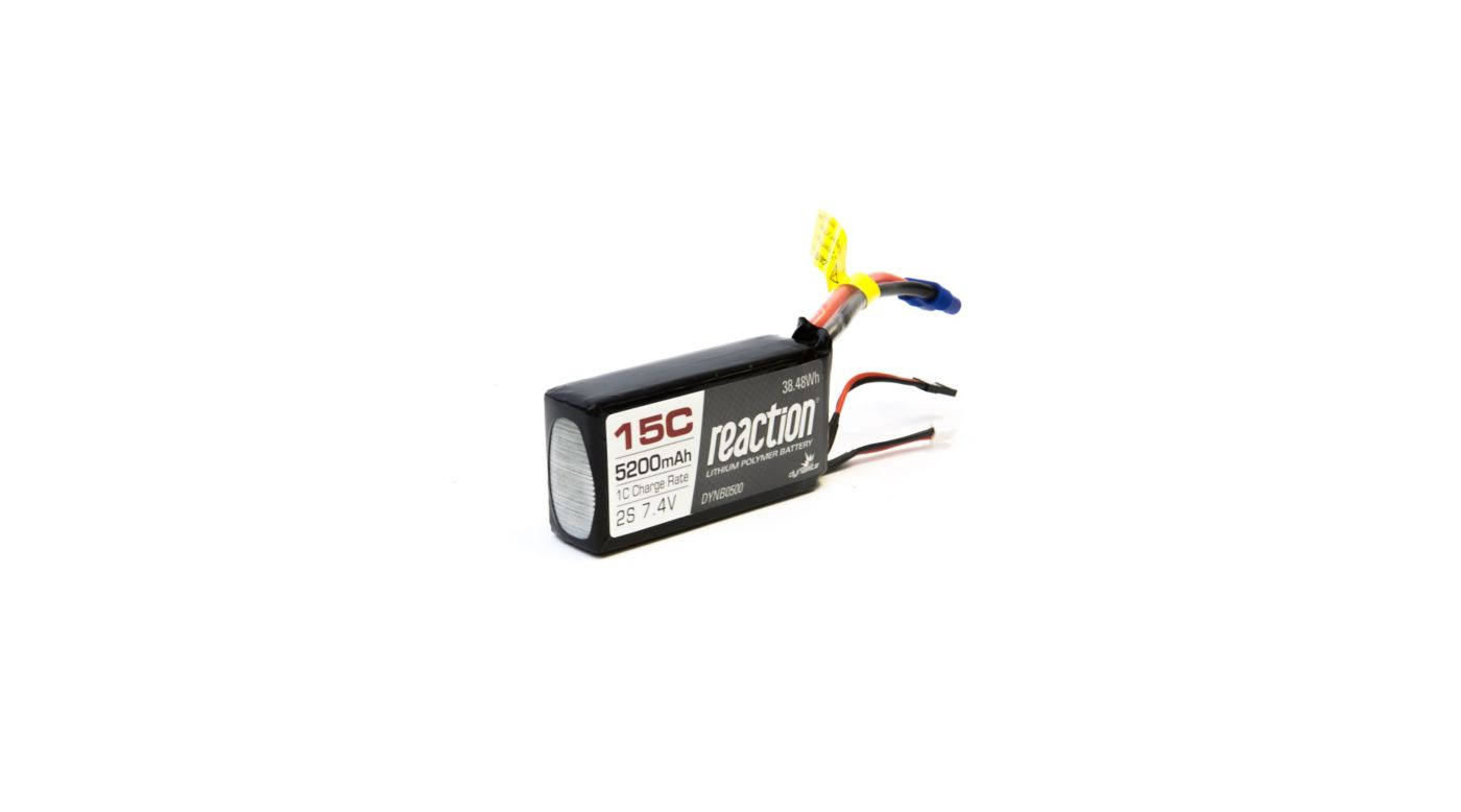 Reaction 7 4v Mah 15c 2s Lipo Battery Ec3 Dynb