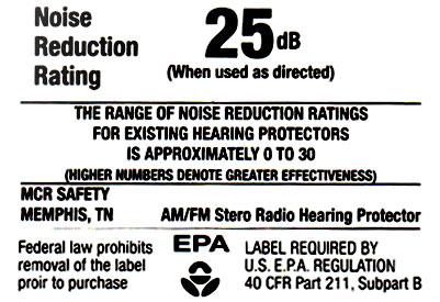 25dB Original EARMUFF Kapsel Gehörschutz mit Radio
