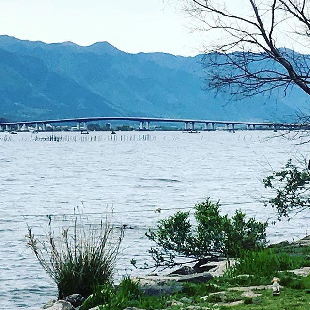 ちょっと拍子抜けした琵琶湖大橋想像してたよりかなり短かった#バイク #バイクのある風景 #ツーリング #琵琶湖 - from Instagram