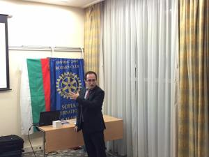 On 5 October 2016 Rotary Club Sofia International held its regular meeting with Marc Bouzy