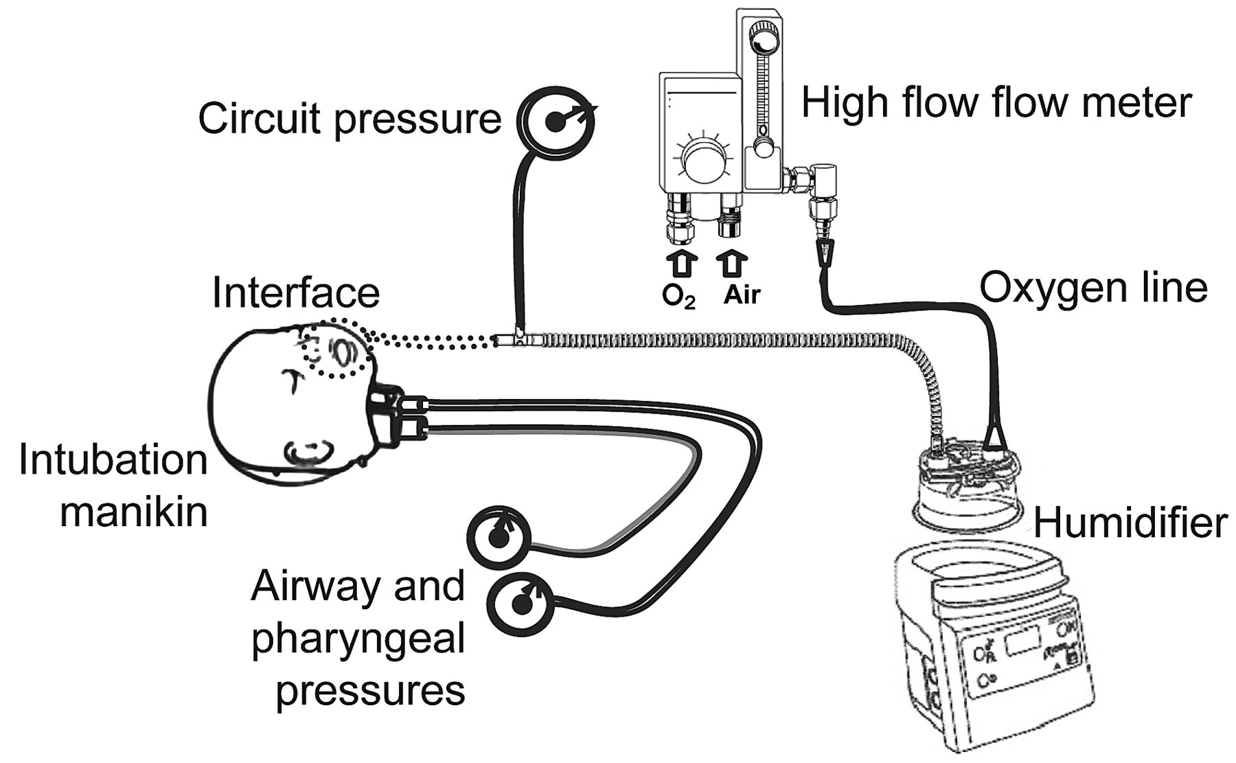 High Flow Oxygen Therapy Pressureysis In A Pediatric