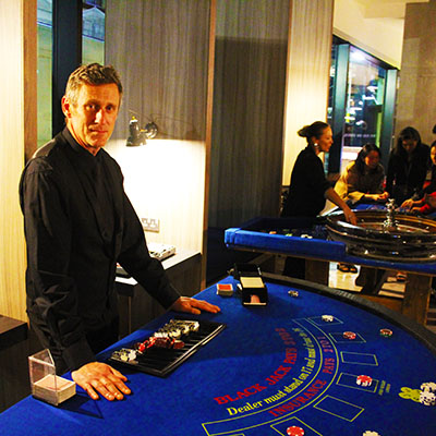 Fun Casino Hire table croupier