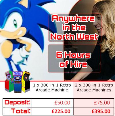 Arcade Machine Hire Pricing Graphic