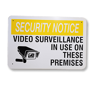 Aluminium-Security-Sign