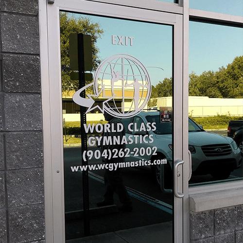 Door-and-Window-Lettering-World-Class-Gymnastics