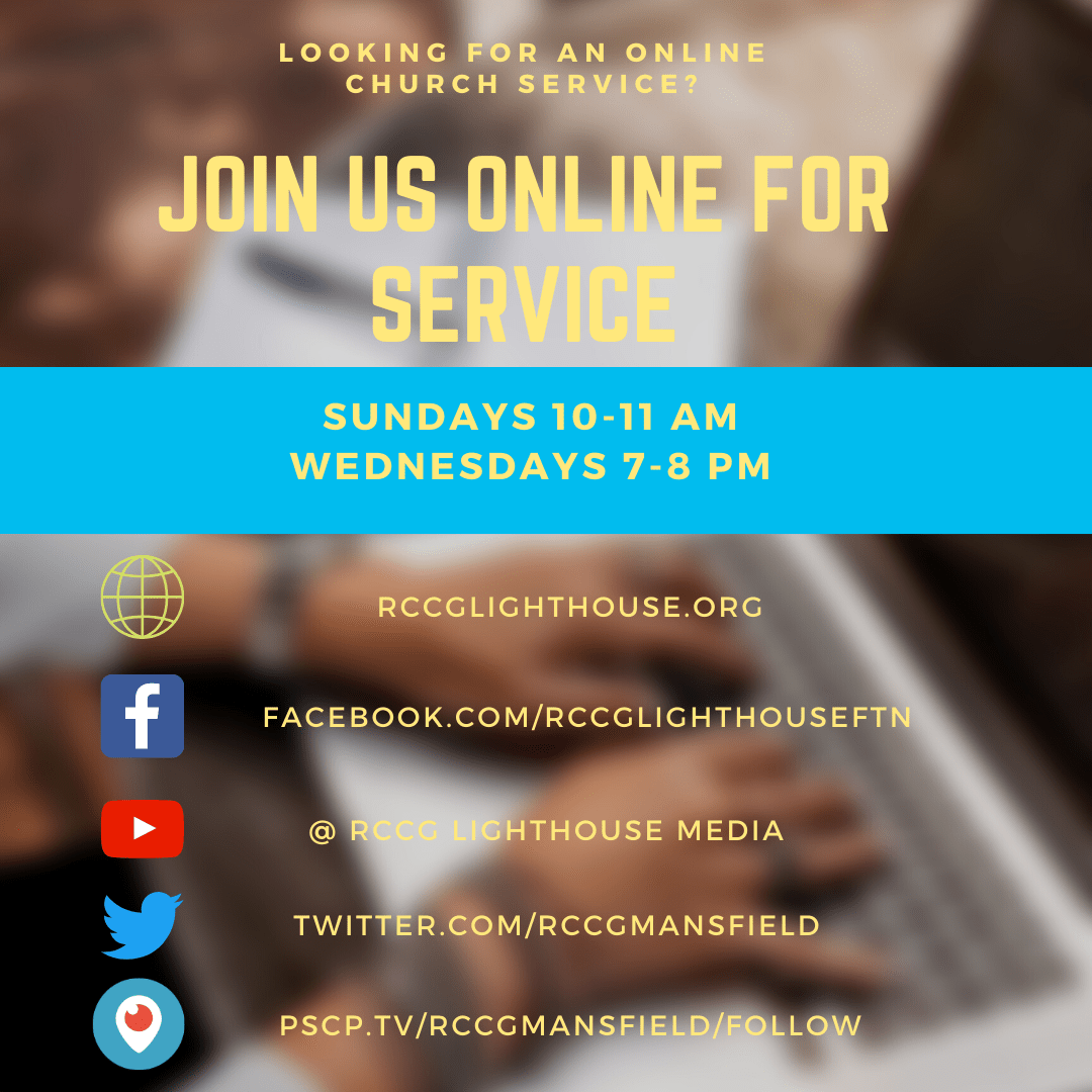 Looking for an online church service? Join us online for service. Sundays 10 to 11am and Wednesdays 7-8pm