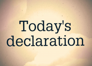 DAILY DECLARATIONS FOR TODAY 18 JANUARY 2021