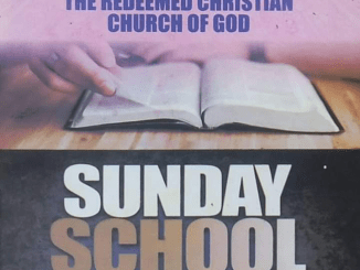 RCCG SUNDAY SCHOOL STUDENT'S MANUAL 12TH JULY 2020