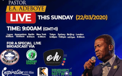 RCCG SPECIAL SUNDAY SERVICE WITH PASTOR E.A. ADEBOYE