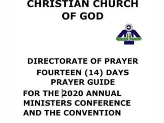 RCCG FASTING PRAYER POINTS