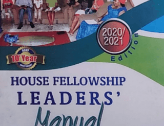 RCCG HOUSE FELLOWSHIP LEADER'S MANUAL 17 JANUARY 2021