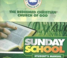 RCCG SUNDAY SCHOOL STUDENT'S MANUAL 2020