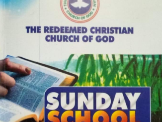 RCCG SUNDAY SCHOOL TEACHER'S MANUAL 2020
