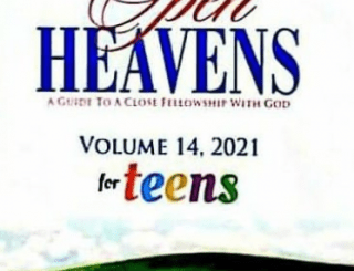 OPEN HEAVEN FOR TEENS 18 JANUARY 2021