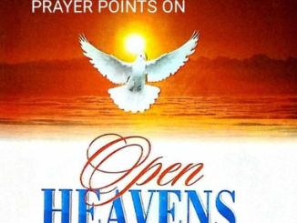 PRAYER POINTS FOR OPEN HEAVENS 18 JANUARY 2021