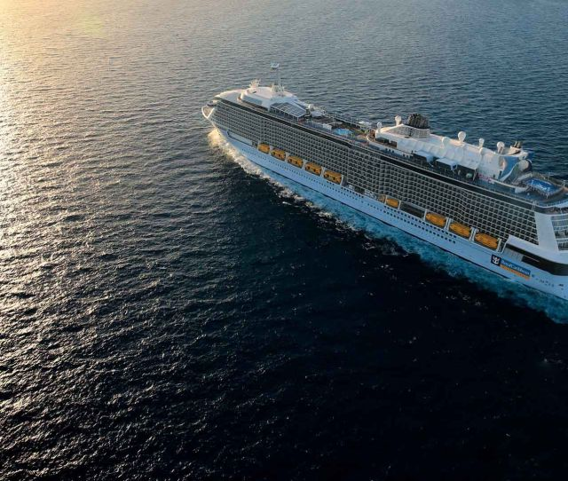 Anthem Of The Seas Aerial View