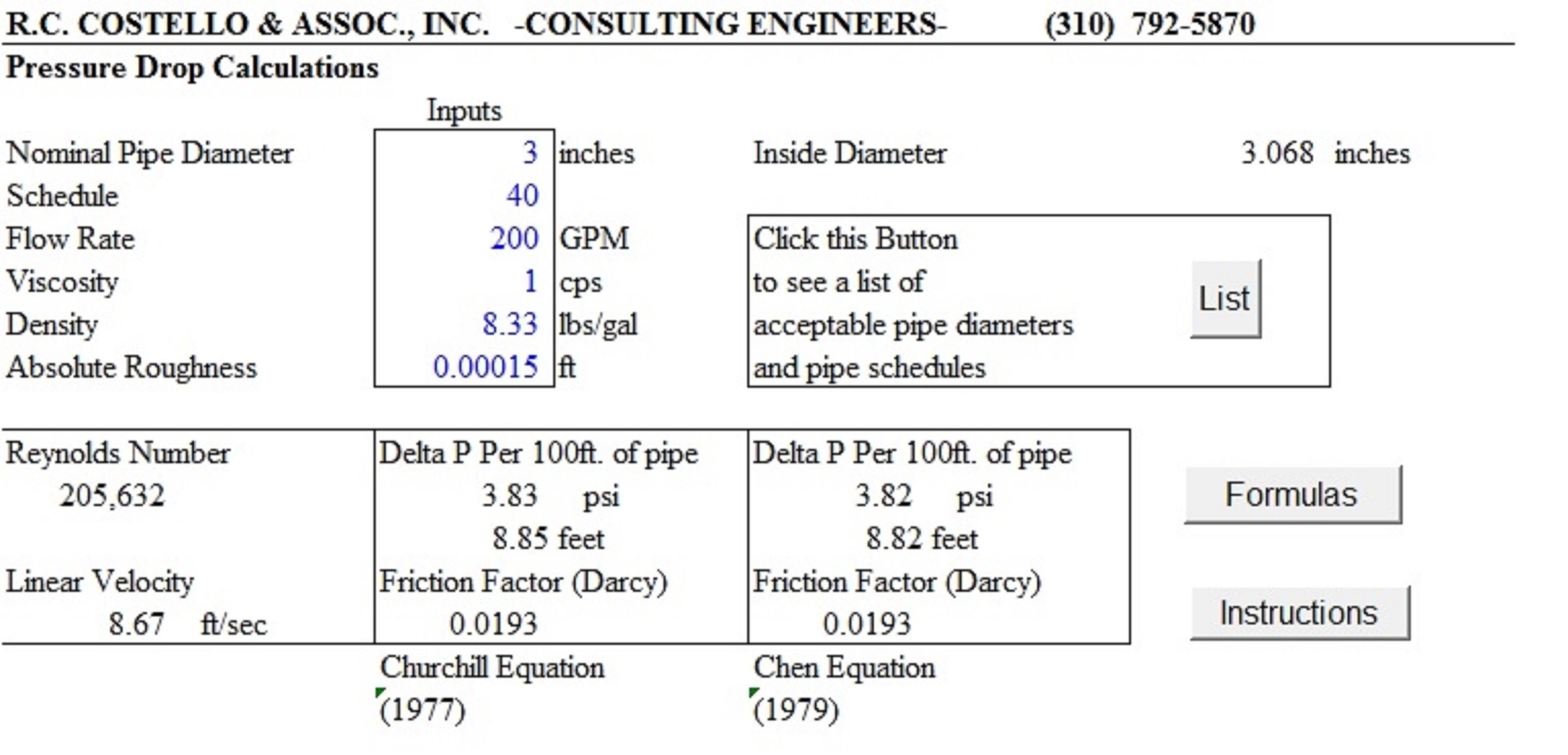 Flow Rate Equation Pressure