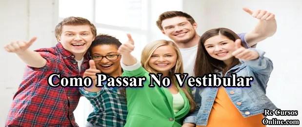 Curso Para Vestibular Descubra Como Passar No Vestibular.