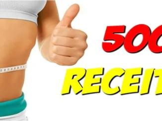 Livro Digital 500 Receitas Para Você Emagrecer.