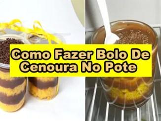 229 como fazer bolo de cenoura no pote - Como Fazer Bolo De Pote De Cenoura Com Cobertura De Brigadeiro.