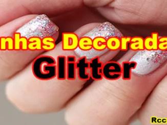 238 como fazer unhas decorada com Glitter - Como Fazer Unhas Encapsulada Decorada Com Glitter.