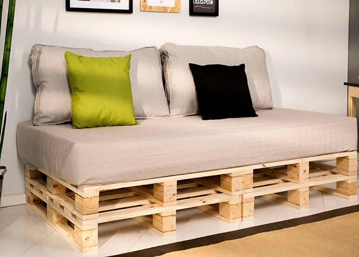 1 imagem sofa de pallet - Sofá De Pallet Para Sala Móveis Feito De Paletes (Imagens De Inspiração).