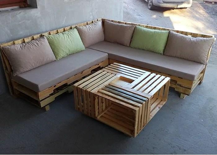 5 imagem sofa de pallet - Sofá De Pallet Para Sala Móveis Feito De Paletes (Imagens De Inspiração).