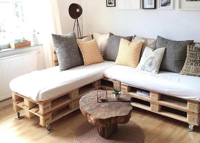 6 imagem sofa de pallet - Sofá De Pallet Para Sala Móveis Feito De Paletes (Imagens De Inspiração).